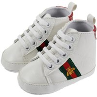 Wholesale baby boys bottoms - Retail Children Soft Bottom Sneakers Shoes Fashion Baby Boys Girls First Walkers Baby Indoor Non-slip Toddler Casual Kids Shoes