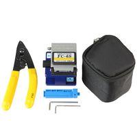 Wholesale Fiber Optic Splice Kit - Fiber Optic Tool 3 in 1 FTTH Splice fiber optic tool kits Fibre stripping +FC-6S fiber cleaver