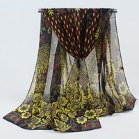 Wholesale winter mufflers men - Wholesale-2016 Korea new winter scarf Gradient print silk scarves factory outlets hijab muffler 045