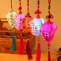 Wholesale Small Paper Lanterns Wholesale - 2015 Spring Festival auspicious lantern Pendant China LED colorful lantern   lanterns praying small stall selling