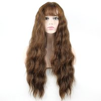 Wholesale Long Glamorous Wigs - Top Quality Stylish 4 colors Long Wavy Wig women Glamorous Cosplay Party Wig Heat Resistant Full Hair Long Curly Wig