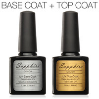 Wholesale Top Gel Nail Polish Colors - Wholesale-Top Coat+Base Coat Kit Civi Gel Nail Polish Gorgeous Colors UV Gel Nail Polish Long-lastting up to 40 Days