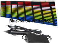 pegatinas largas de coche al por mayor-Long Life Time Car Ecualizador Led Sticker Music Blue-Yellow-White Color EL Ecualizador Luces brillantes Pegatina del coche High Quality El Flashing