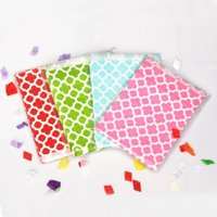 Wholesale Wholesale Chevron Treat Bags - Fashion Ruched ordinary candy Bags inch Chevron Popcorn Candy Kraft Paper Treat Favor Bag Goodie Gift Bags for Decoration C2036