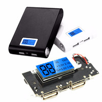 placa de circuito impreso al por mayor-Al por mayor-Seguridad Universal Dual USB 5V 1 / 2.1A Power Bank 18650 Cargador de Batería PCB Board Power Module Accesorios Pro para teléfono móvil DIY