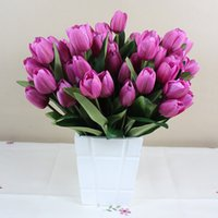 Wholesale Tulip Fabric Flowers - Fabric Flowers Artificial Flowers Branches Tulips For Home Wed Decorations With 8 Colors Silk Flowers for Home Decor