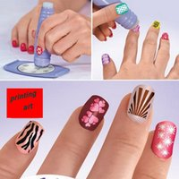 Wholesale Sale Free Shipping Worldwide - Wholesale- 2017 New Hot sale Manicure sets printing nail art device Plastic Nail Art Tools Hot Worldwide free shipping S525