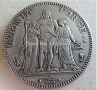 Wholesale Bronze Union - French revolution coins, Directoire, 5 Francs Union et Force Brass Craft Ornaments replica coins home decoration accessories