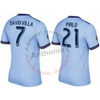 Wholesale villas jersey - NEW YORK CITY 2017 DAVID VILLA LAMPARD PIRLO CUSTOMIZED soccer uniform kits soccer jerseys thai quality thailand quality football shirts kit