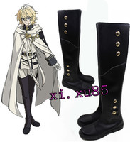 Seraph Of The End Scarpe Cosplay Mikaela Hyakuya Stivali militari Uniform Cosplay Costume Ferid Stivali da bagno