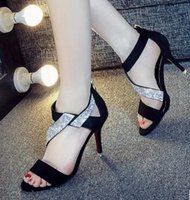 Wholesale Suede Heels Summer - In the 2017 summer, the new women's shoes and sandals are high in line with the European and American fashion and elegance