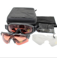 Wholesale army ess sunglasses resale online - ESS Credence goggles polarized lens Tactical Sunglasses UV400 Military Glasses TR90 Army CS Google Bullet proof Eyewear O brand