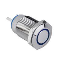 Wholesale illuminated push switch - new 12V Metal LED Car illuminated 16mm Push Button Switch hot selling