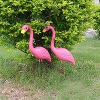 Wholesale Garden Wedding Ceremony - 50*90cm Plastic Bright Pink Simulation Flamingo Garden Yard and Lawn Art Ornament Wedding Party Ceremony Decoration ZA3043