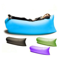 Wholesale 9 Colors Fast Infaltable Sleep Bag Seconds Quick Open Lazy Sleeping Bed Folding Sofa Outdoor Beach Sleep Bed