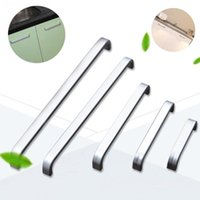 выдвижные ящики оптовых-Wholesale- 5 Lengths Solid/Hollow Space aluminum handle Kitchen Furniture pulls wardrobe handle drawer handle 64mm/96mm/128mm/160mm/192mm