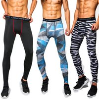 Wholesale Lycra Leggings Men - Wholesale-8 Colors New Mens Compression Pants Casual Jogger Tights Lycra Bodybuilding Mans High Elasticity Joggers Skinny Leggings
