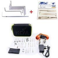 KLOM Cordless Electric Lock Pick Gun Auto Pick Guns Lockpicking Serrurier Outils avec clé de crédit verrouillage + 5pcs Tension Claviers