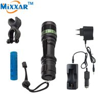Wholesale Led Flashlights High Lumen - CREE XM-L Q5 3000 Lumen LED Flashlight LED Zoomable Torch Lamp Light Black Waterproof Led Torch High Light