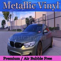 Matte Metallic Brown / black shift Vinyl Wrap Film Avec Air Bubble Free Car wrap couvrant Skin cast Foil Graphic SIZE 1.52 * 20M / Roll 5X67FT