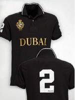 polo numero polo al por mayor-Camisa casual de alta calidad de los hombres de Berlín París Londres Nueva York Milan Dubai camisas de manga corta grandes camisetas de polo del bordado del caballo número 2
