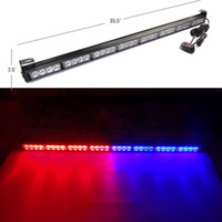 32LED 90cm Super Bright Car Auto Light Warning Clignotant Bar Hazard Rouge et Bleu Éclairage Stroboscope LED DHL Livraison gratuite