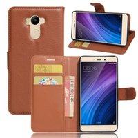 Wholesale Xiaomi Flip Cover - For Xiaomi Redmi 4 Pro Case 5.0 inch Wallet PU Leather Phone Case For Xiaomi Redmi4 Pro Prime Case Flip Protective Back Cover for Hongmi 4