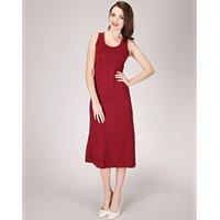 Wholesale Basic Cotton Long Dress - 2017 New 6 color women basic dress plus size maxi long comfortable soft modal cotton dress beach dress