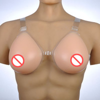 Full Cup Red Nipple Crossdresser Bust Enlargement Silicone Breast Prosthesis Fake Boobs Beige Color Straps On Adjustable
