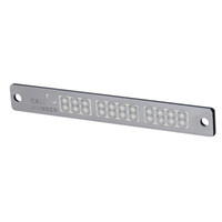 Wholesale Number Plate Stickers - Car Luminous Temporary Parking Card With Suckers And Phone Number Card Plate