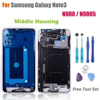 Wholesale High Quality Middle Frame for Samsung Galaxy Note N900 N9005 Middle Housing Replacement Screen Bezel Repair Parts
