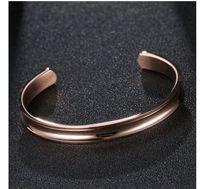 Wholesale Metallic Bangle Cuff - Stainless Steel Bracelet Cuff Bangle,High Polished Metallic Brushed Edges for Girls