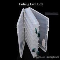 Wholesale Tackle Storage Boxes Plastics - Clear Plastic Box for Fishing 27*18*4.5cm Fishing Lure Tackle Box Double Layer Spinner Bait Minnow Popper Pesca Storage Case out180