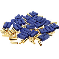 Wholesale Bullets Connector 5mm - 10 Pairs Male Female EC5 Style Connector 20 Pairs 5.0mm 5mm Gold Bullet Plug ESC
