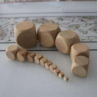 Wholesale High Quality Educational Wooden Toys - 15mm Blank Wood Dice DIY Wooden Cube Children Safety Educational Toy Drinking Game Dices Board Game Accessories Good Price High Quality #B49