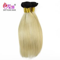 Wholesale Hair Extensions Blonde One Piece - Xiu Yuan Brazilian 100% Natural Virgin Human Hair Weaves Bundles Unprocessed Brazillian Peruvian Straight Blonde Hair Extensions One Pice