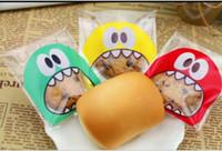 brotbeutel groihandel-Umweltfreundlich Bunte Self Adhesive Bag Kleinpaket-Beutel für Plätzchen-Kuchen Brot Dessert Süßigkeiten Geschenk-Verpackung Hochzeit Party Supplies