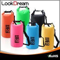 Wholesale Dry Bags For Camping - LooKDream Waterproof Dry Bag Roll Bucket Resistant Dry Gear Bag for kayak Fishing Camping Swim Hike Climb Mountain By DHL