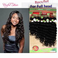 Wholesale female hair colors - Mongolian Kinky Curly Hair 8PCS lot afro kinky curly hair tangle free brazilian LOOWSE WAVE FEMALE Unprocessed Hair Sew In Extensions