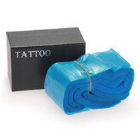 Wholesale Disposable Tattoo Sleeves - Wholesale- Professional 100pcs Lot Disposable Blue Color Tattoo Clip Cord Bags Sleeves CoversTattoo Power Supply 24*80mm