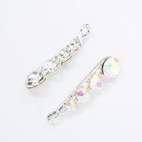 Wholesale Peas Bracelet - Wholesale 40pcs Pea type crystal Alloy accessories White k jewelry pendants charms for bracelet necklace DIY jewelry making js064