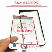 lunette 5s achat en gros de-10pcs qualité originale avant verre extérieur avec cadre lunette avec oca pour iPhone 5 5c 5s 6 6 s plus 7/7 plus lcd pièce de réparation