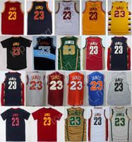 Wholesale Vintage Irish - Men 23 LeBron James Basketball Jerseys Throwback St. Vincent Mary High School Irish Movie TUNESQUAD James Jersey Vintage Red Black Blue