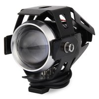 Wholesale Led Cree 12v Motorcycle - 2PCS Cree U5 Motorcycle Motorbike 12V LED Headlights Headlight Waterproof Spot Light Laser Cannon Spotlights 160274801