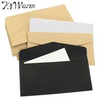 Wholesale Envelope Window - Wholesale- Kicute 50Pcs Vintage Design Brown White Black Kraft Blank Mini Paper Window Envelopes Wedding Invitation Envelope Gift Envelope