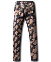 Wholesale New Fasion Jeans - 2017 new arrival fasion designer robin jeans for men famous brand plus size denim ripped american flag jeans men
