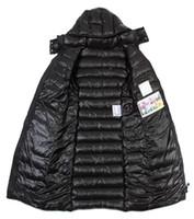 Wholesale Winter Park - down jacket womanTop brandFr Mon middle-long hooded down jacket 90 white duck down outwear warm parks winter coat anorka original