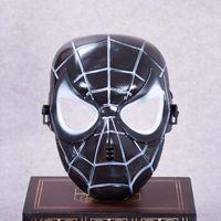 máscaras de super-heróis negros venda por atacado-Popular Spiderman Máscara Vermelho Preto Spiderman Superhero Crianças Máscara Masquerady Máscaras de Cosplay Do Dia Das Bruxas Do Partido Do Cliente Novidade Máscara Frete Grátis