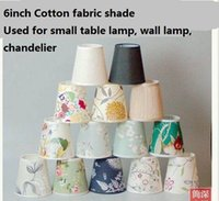 Wholesale Europe and America Style inch E27 Cotton Fabric Lamp Covers Shades Used for Small Table Lamps Wall Lights Lamp Chandelier Lighting Parts