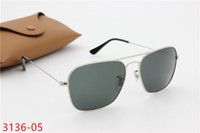 Wholesale Waterproof Promotion Case - 2017 New Style caravan Men's Sunglasses G15 Or Color Coated Lens Metal Frame AAA Quality Promotion Price Women's Fashion Design With Cases